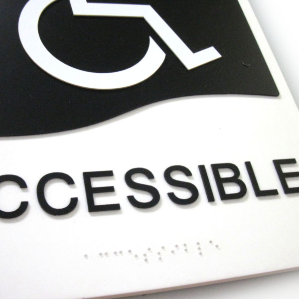 Accessible Washroom Door Sign With Braille 171 Bc Site Service