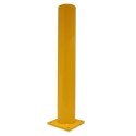 Round Yellow Flat Paint Metal Bollard