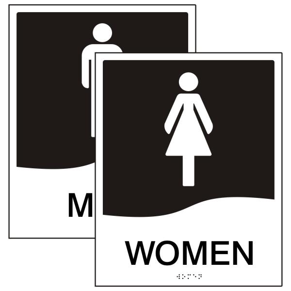 how to write men in braille washroom