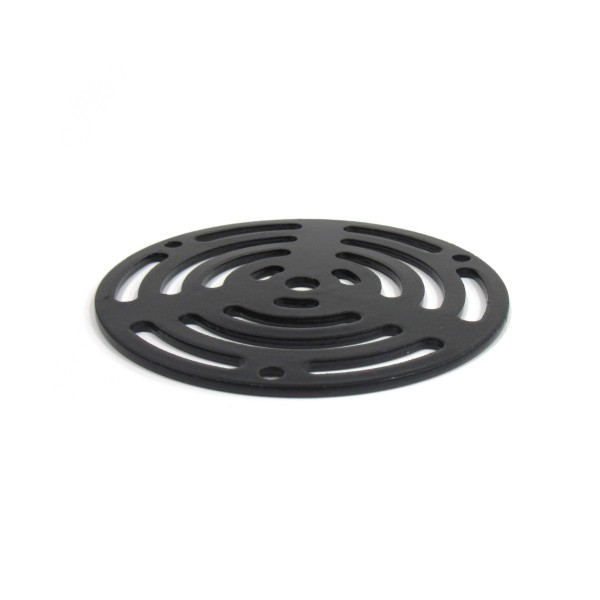 4 Round Black Drain Grate With Abs Utility Floor Drain