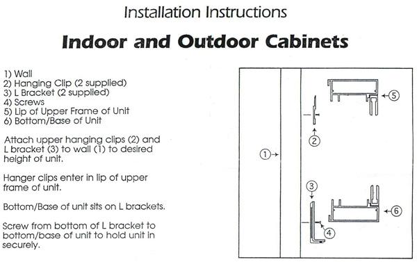 Bulletin Board Cabinet Installation Instruction