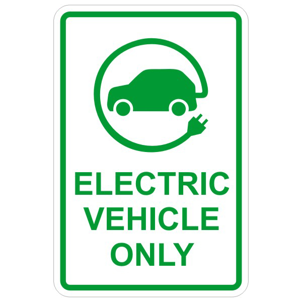 Electric Vehicle Parking Sign : BC Site Service