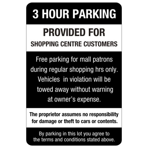 3 Hour Parking Regulations