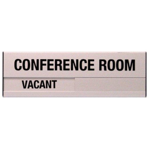 Vacant Conference Room Sign 3.5 x 10 (Silver)