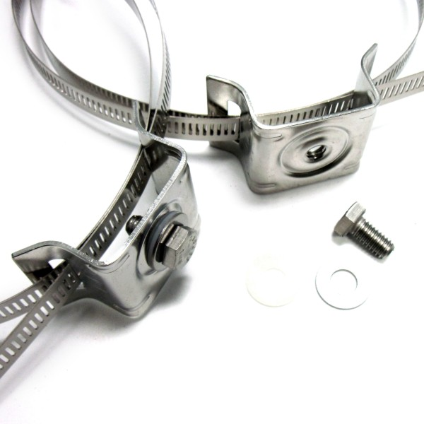 Adjustable Stainless Steel Sign Mounting Bracket Set For