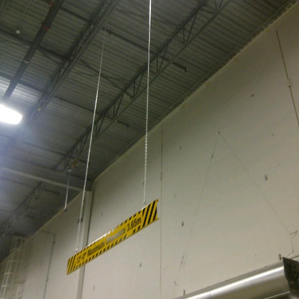 Heavy Duty Aluminum Bar With Maximum Height Sign 96 X 8