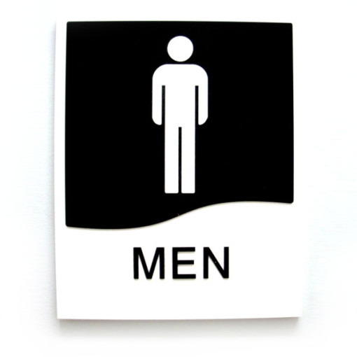Men Washroom Door Sign