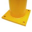 Round Yellow Flat Paint Metal Bollard Base