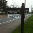 Wrought Iron Sign Holder In Ground installed