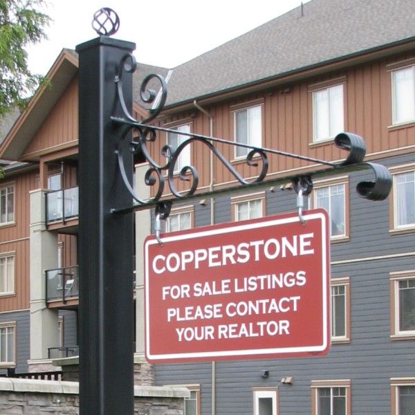 Wrought Iron Sign Holder Above Ground Mounting Bc Site