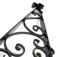 Wrought Iron Sign Holder Wall Mounting Pattern