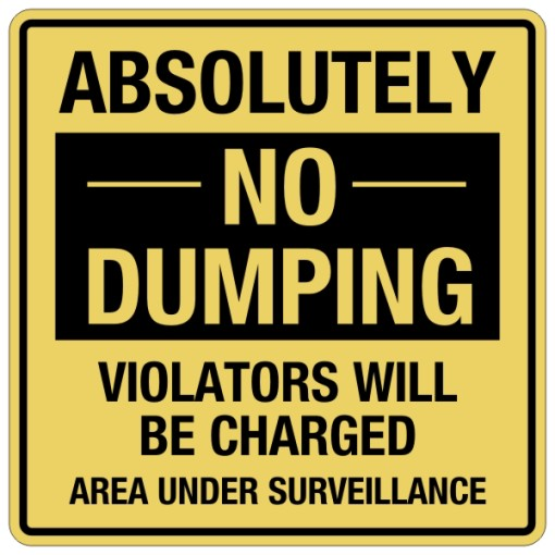 Absolutely No Dumping