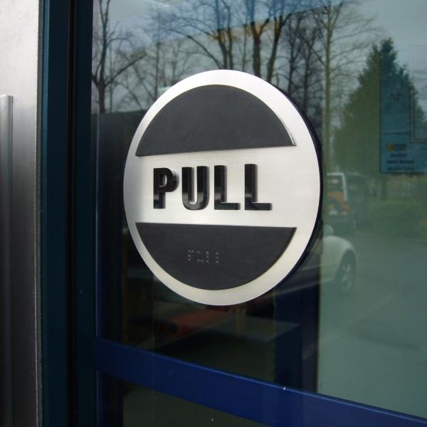 Door Push Amp Pull Sign Set 5 Bc Site Service