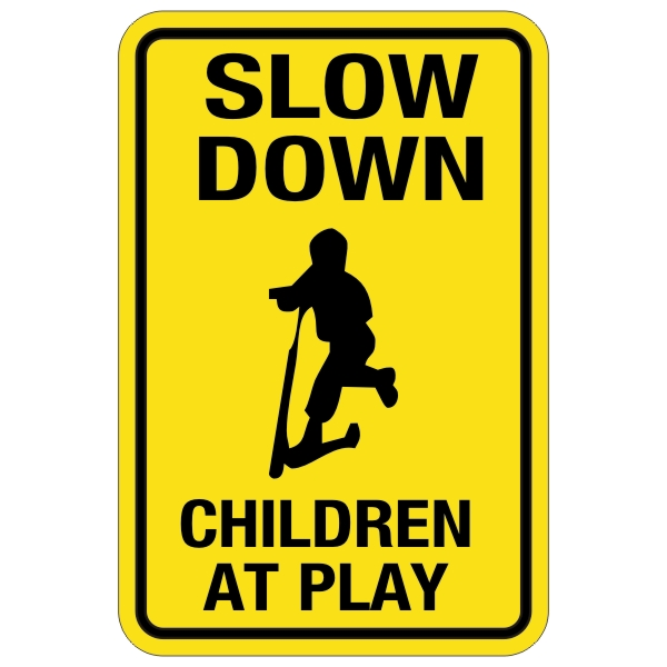 Slow Down Signs >> Slow Down Children At Play Sign 12 X 18 Bc Site Service