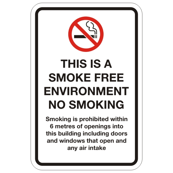 This Is A Smoke Free Environment Sign 12 X 18 Bc Site