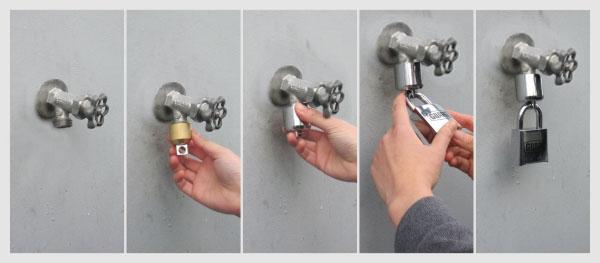 Water Tap Lock Set Bc Site Service