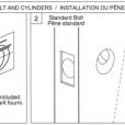 ABLOY Tubular Deadbolt Double Cylinder Installation Instruction A1