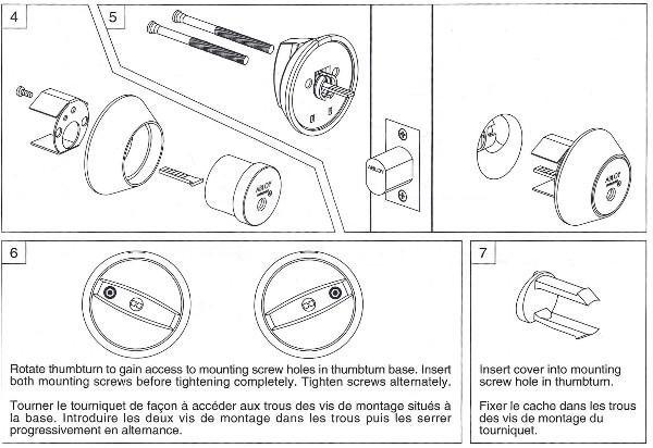 Deadbolt Installation Instructions - 2 of 5