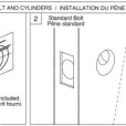 ABLOY Tubular Deadbolt Single Cylinder Installation Instruction A1