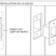 ABLOY Tubular Deadbolt Single Cylinder Installation Instruction B