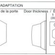 ABLOY Tubular Deadbolt Single Cylinder Installation Instruction D