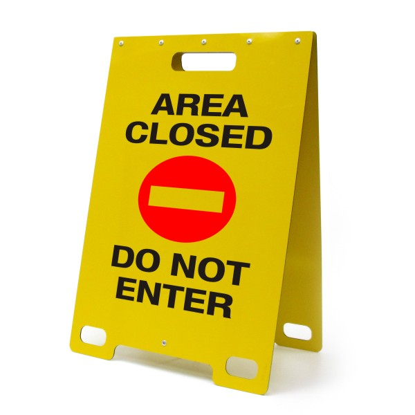 Area Closed Do Not Enter Portable A Frame Sign Bc Site