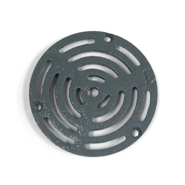 4 Round Blue Painted Cast Iron Floor Drain Strainer Bc