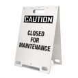 Caution Closed For Maintenance White