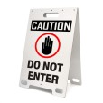 Caution Do Not Enter White