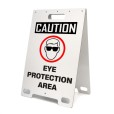 Caution Eye Protection Area White