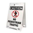 Caution No Pedestrian Traffic White
