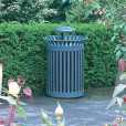 Commercial Garbage Receptacle With Rain Guard