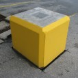 Concrete Square Block Painted in Yellow