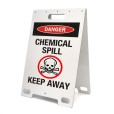 Danger Chemical Spill Keep Away White