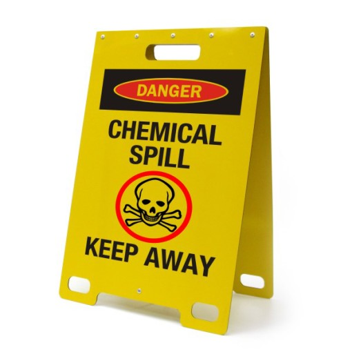 Danger Chemical Spill Keep Away Yellow