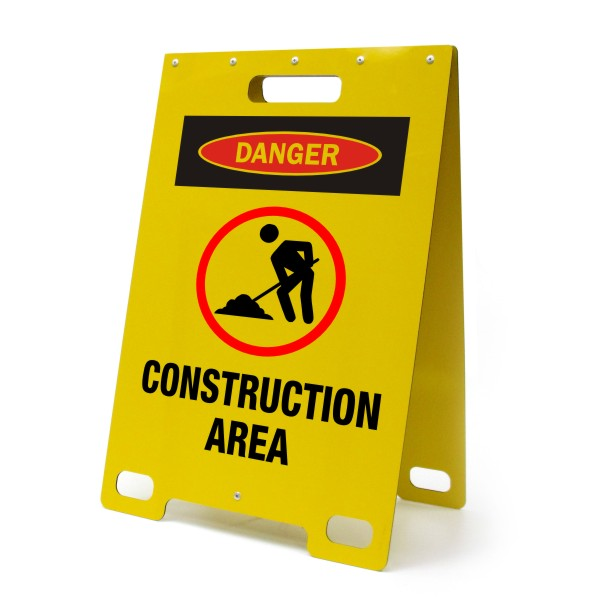 Danger Construction Area Portable A Frame Sign Bc Site