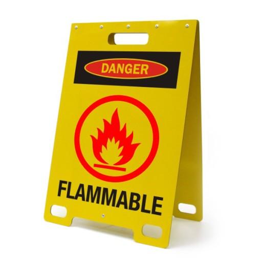 Danger Flammable Yellow