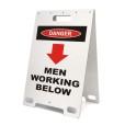 Danger Men Working Below White