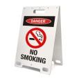 Danger No Smoking White