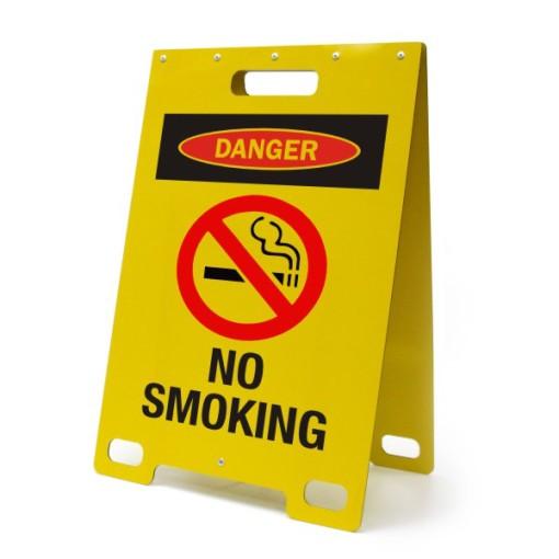 Danger No Smoking Yellow