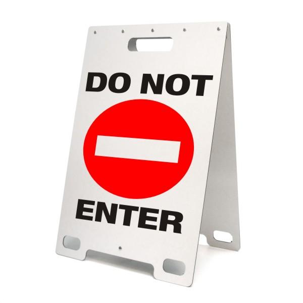 Do Not Enter Portable A Frame Sign Bc Site Service
