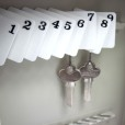 Numbered Key Tags with Snap Hooks