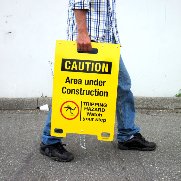 Caution Forklift Traffic Portable A Frame Sign Bc Site