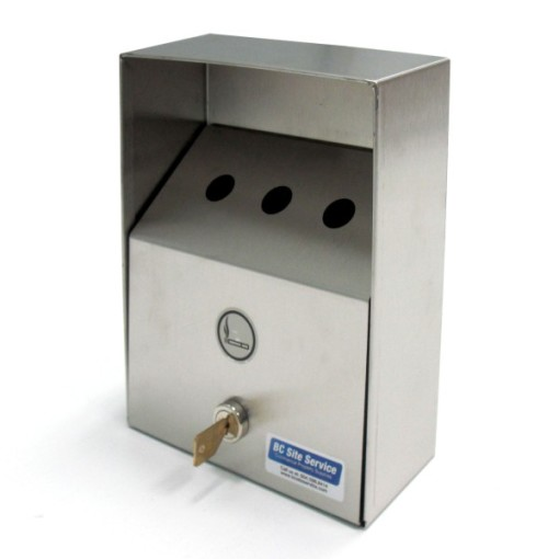Square Wall Mounted Stainless Steel Ashtray