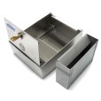 Square Wall Mounted Stainless Steel Ashtray And Accessories