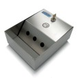 Square Wall Mounted Stainless Steel Ashtray Top View