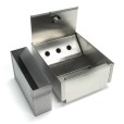 Square Wall Mounted Stainless Steel Ashtray With Inside Container
