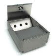 Square Wall Mounted Stainless Steel Ashtray With Lid Open