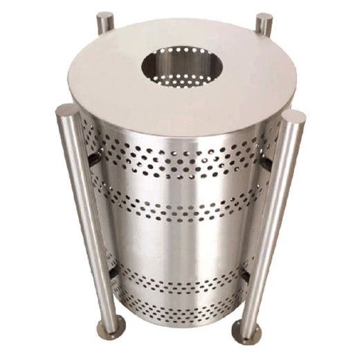 Stainless-Steel-Garbage-Receptacle