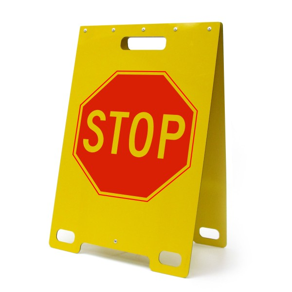 Stop Sign Portable A Frame Sign Bc Site Service